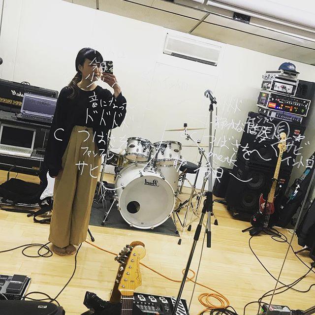 アズリフスタジオ!複雑な曲の構成を書き起こしてみたところ暗号ができあがった。はやくライブでやりたい!#ASREFRAIN#男女ツインギターボーカル#名古屋バンド#次のライブは4月13日